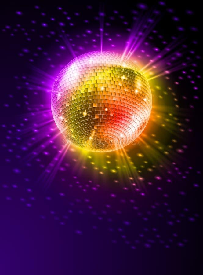 Spiegel-Disco-Kugel stock abbildung