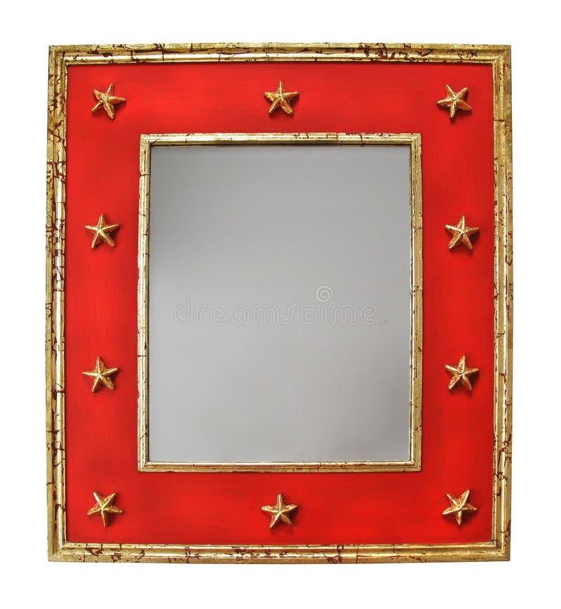 Spiegel met sterren royalty-vrije stock fotografie
