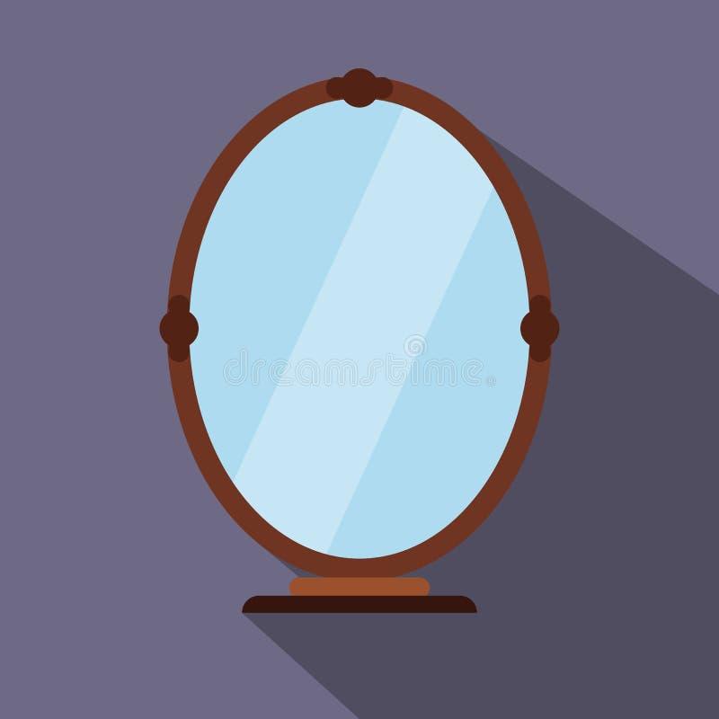 Spiegel vlak pictogram vector illustratie