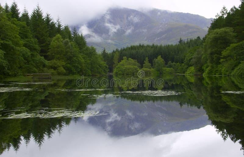 Spiegel zoals Lochan royalty-vrije stock foto's