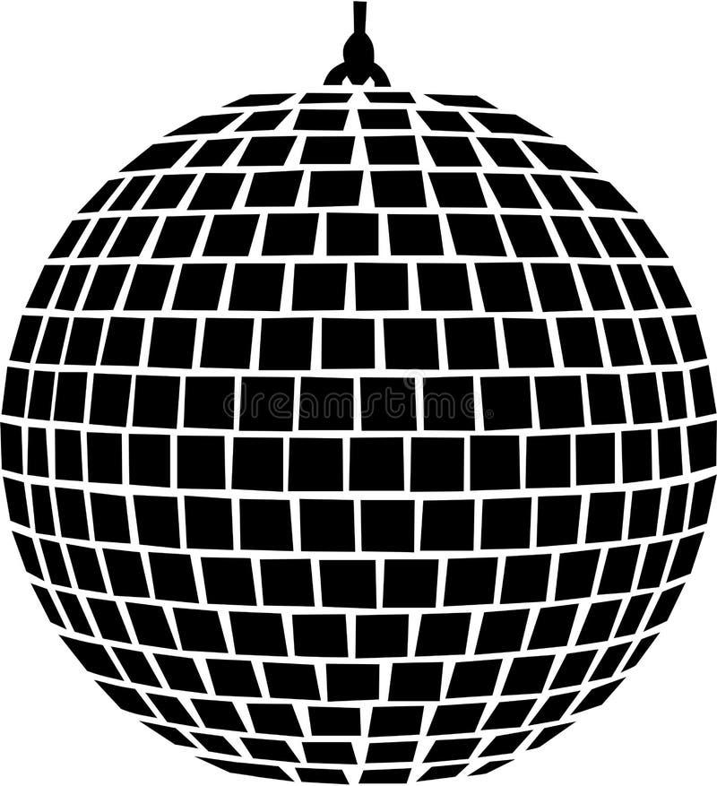Spiegelballmusik stock abbildung