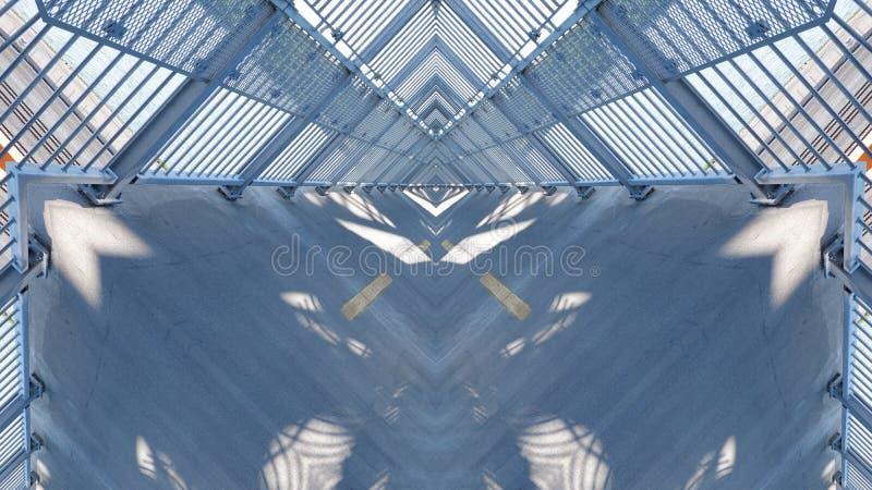 Spiegeleffect op een viaduct royalty-vrije illustratie