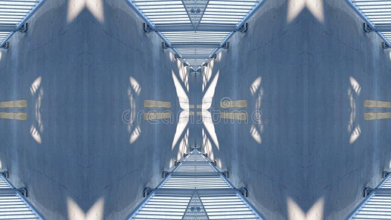 Spiegeleffect op een viaduct stock illustratie