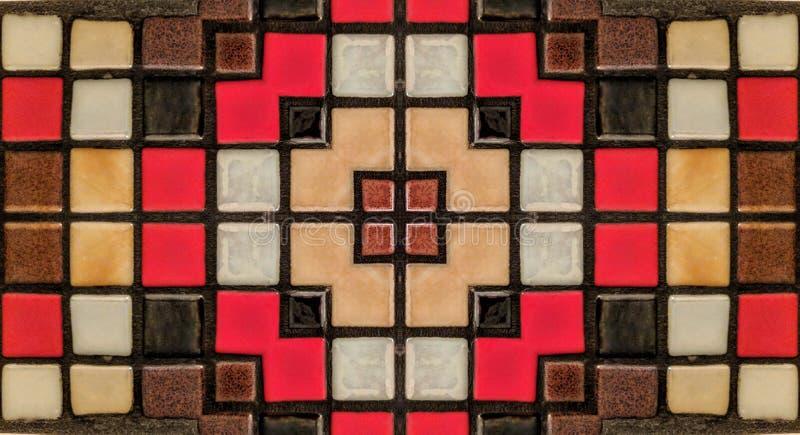 Spiegeleffect op kleine tegels vector illustratie