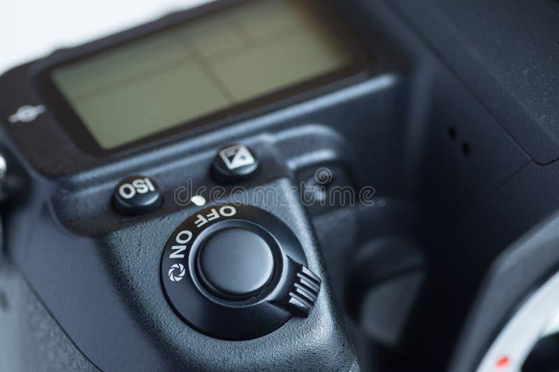 SpiegelreflexkameraNetzschalter weg vom Modus lizenzfreie stockfotos