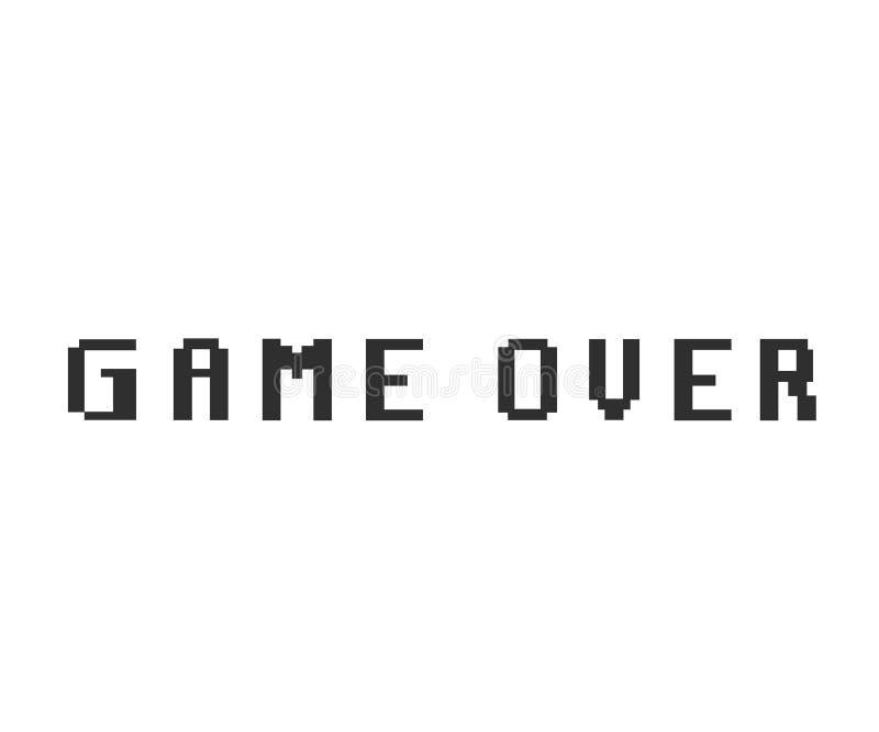 Spiel über Pixelikone lizenzfreie abbildung