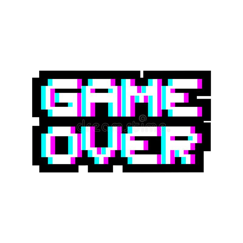 Spiel über Pixelsymbol stock abbildung
