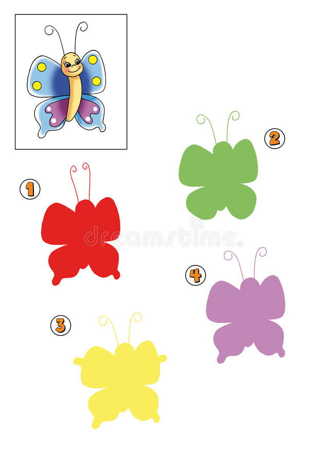 Spiel 10 - Der genaue Farbton vektor abbildung