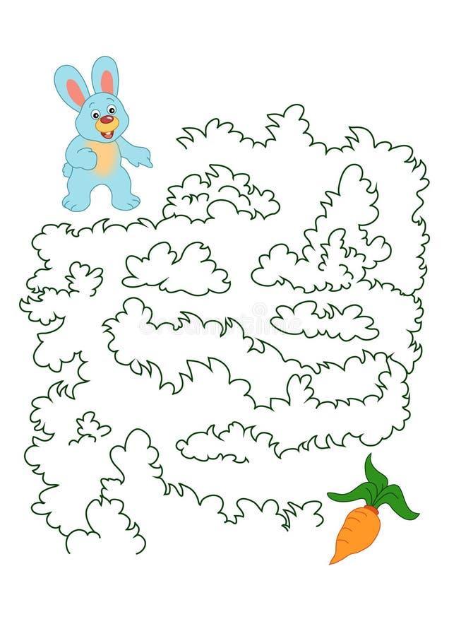 Spiel 160, das Kaninchen und die Karotte vektor abbildung