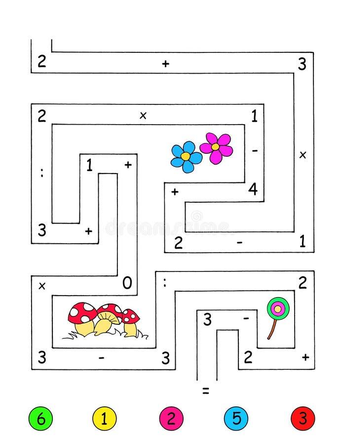 Spiel 4 - Die genaue Anzahl stock abbildung