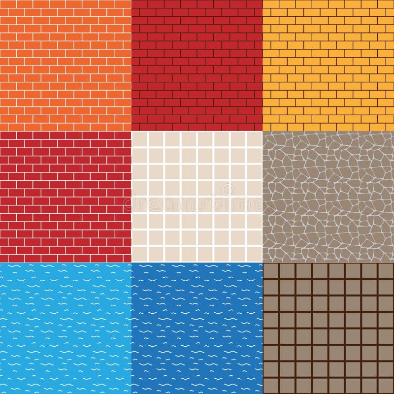 Spiel-Anlagegut-Vektor-nahtlose Muster lizenzfreie abbildung