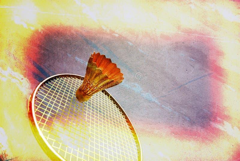 Spiel-Badminton. stockbilder