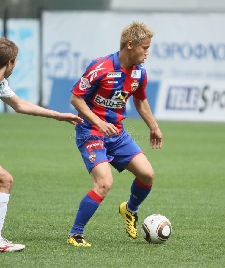 Spiel CSKA Moskau gegen Terek Grosny lizenzfreie stockfotos