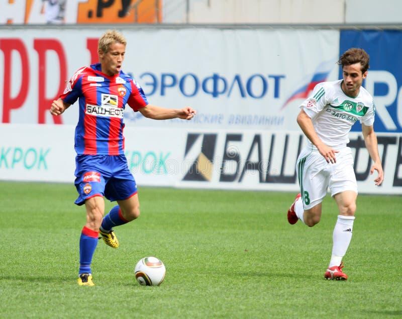Spiel CSKA (Moskau) gegen Terek (Grosny) - (4: 1) stockbild