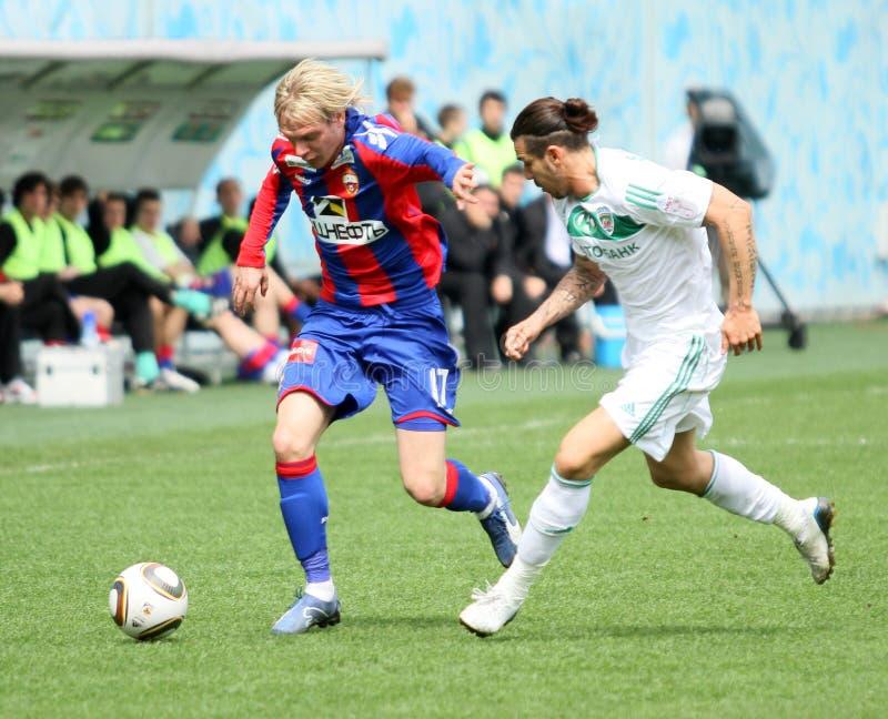 Spiel CSKA (Moskau) gegen Terek (Grosny) - (4: 1) lizenzfreies stockbild