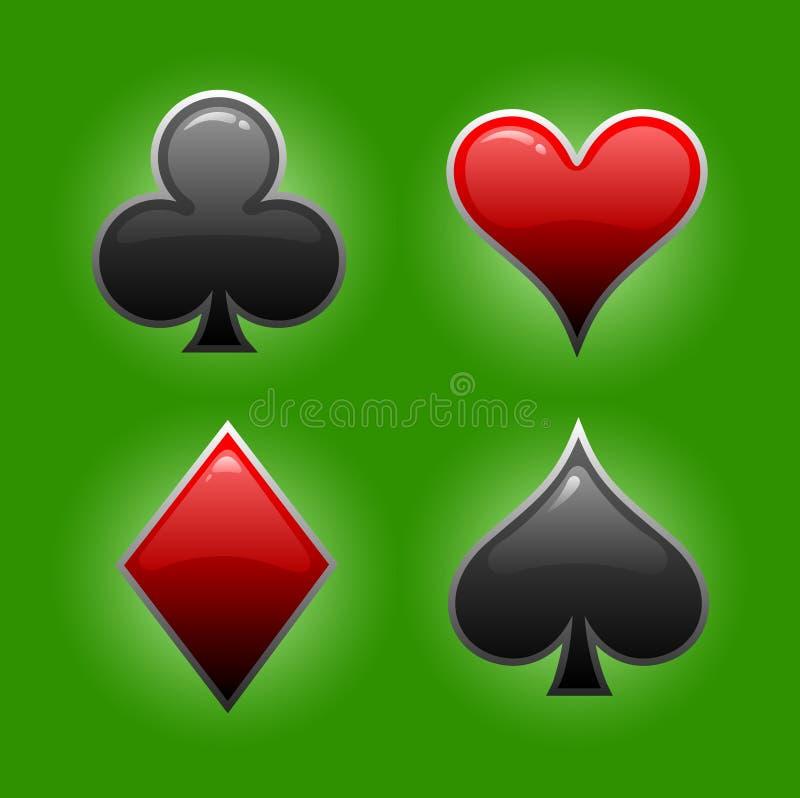 Spiel der Kartensymbole stockfotos