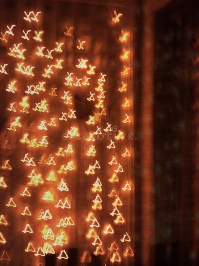 Spiel des feenhaften Lichtes im Freien stockbild