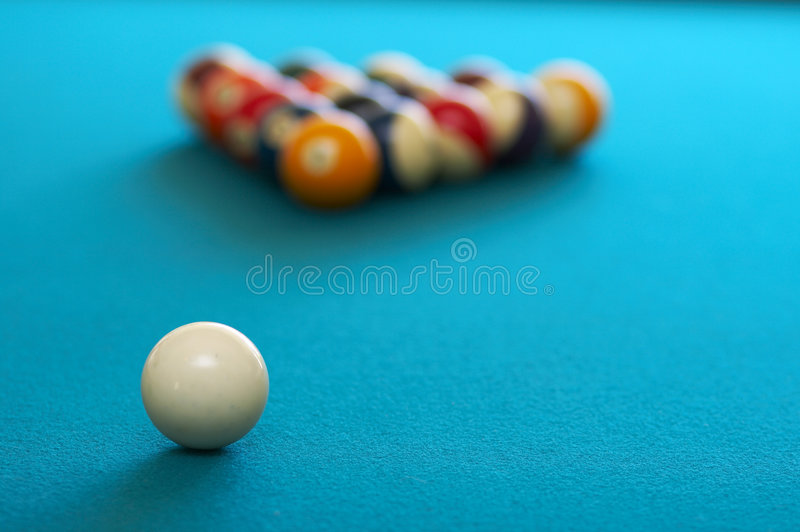 Spiel des Pools lizenzfreie stockfotos