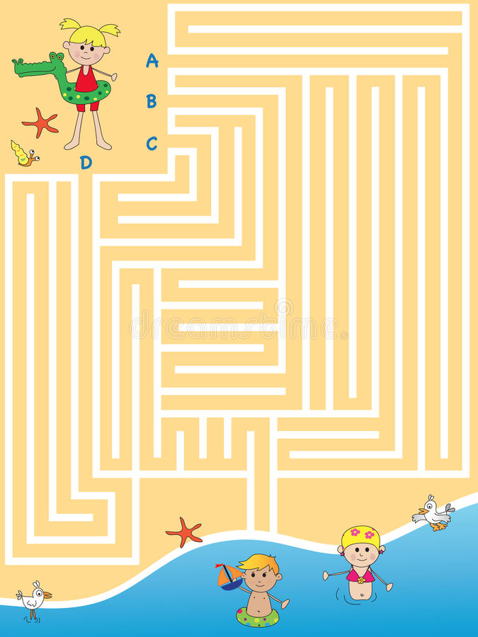 Spiel für Kinder lizenzfreie abbildung
