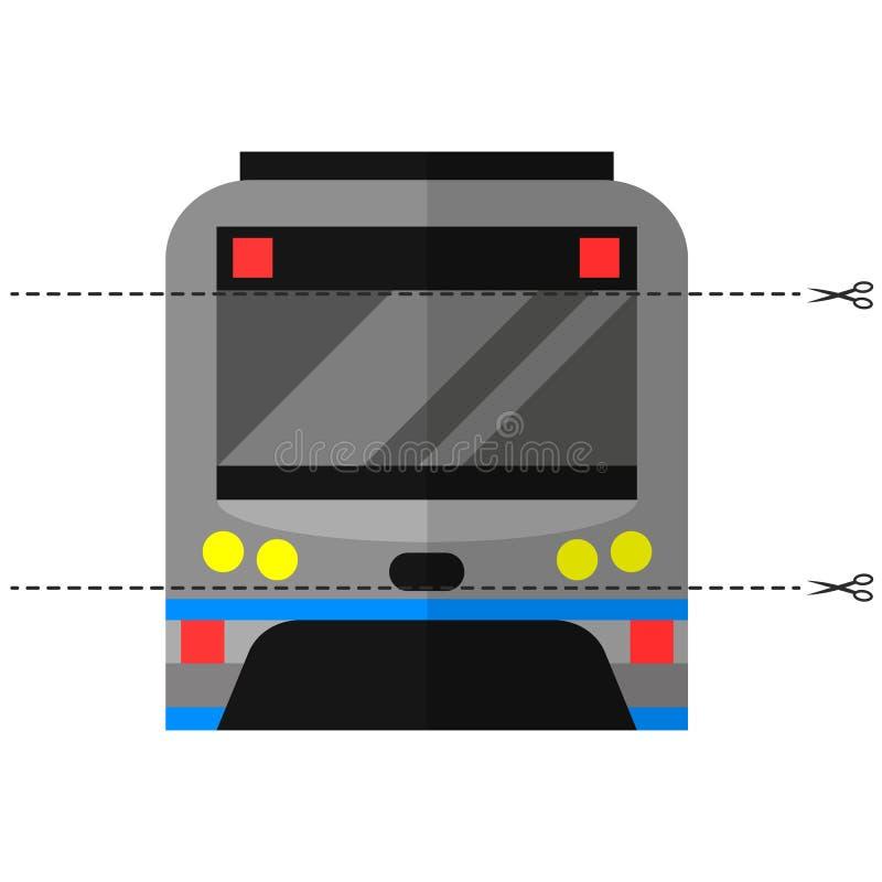 Spiel für Kinder des Vorschulalters Schneiden Sie das Bild in Stücke Falten Sie sich in der rechten Bestellung mosaik transport U stock abbildung