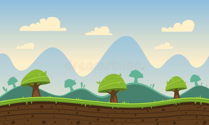 Spiel-Karikatur-Hintergrund lizenzfreie abbildung