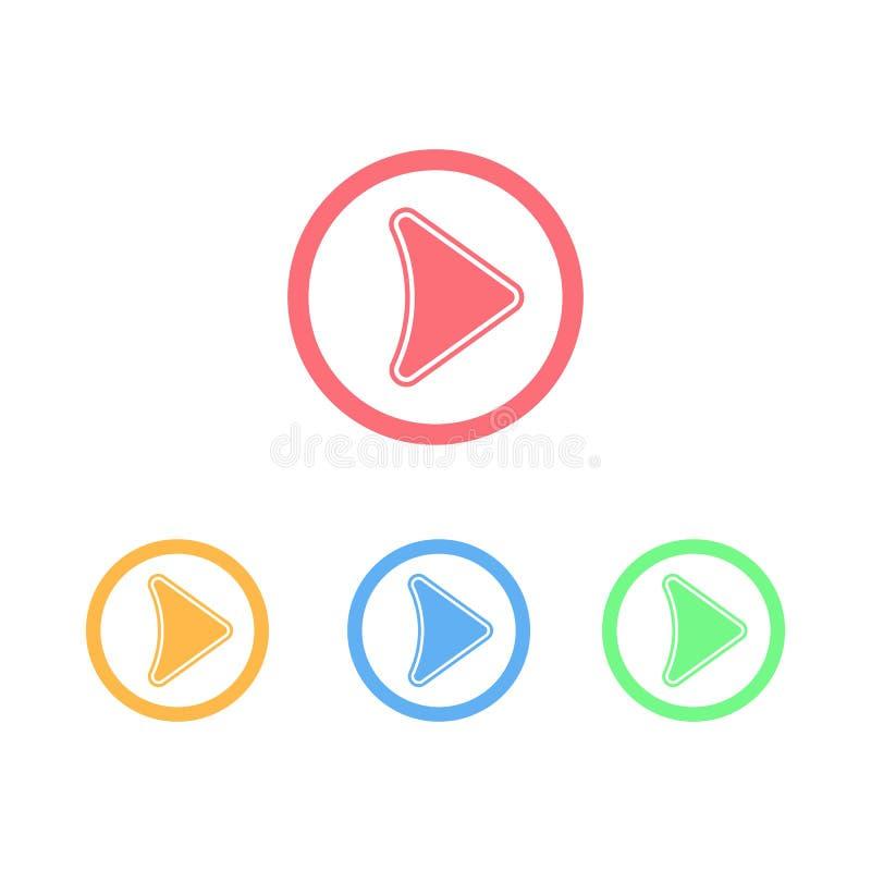 Spiel-Knopf-Logo oder Ikone vektor abbildung