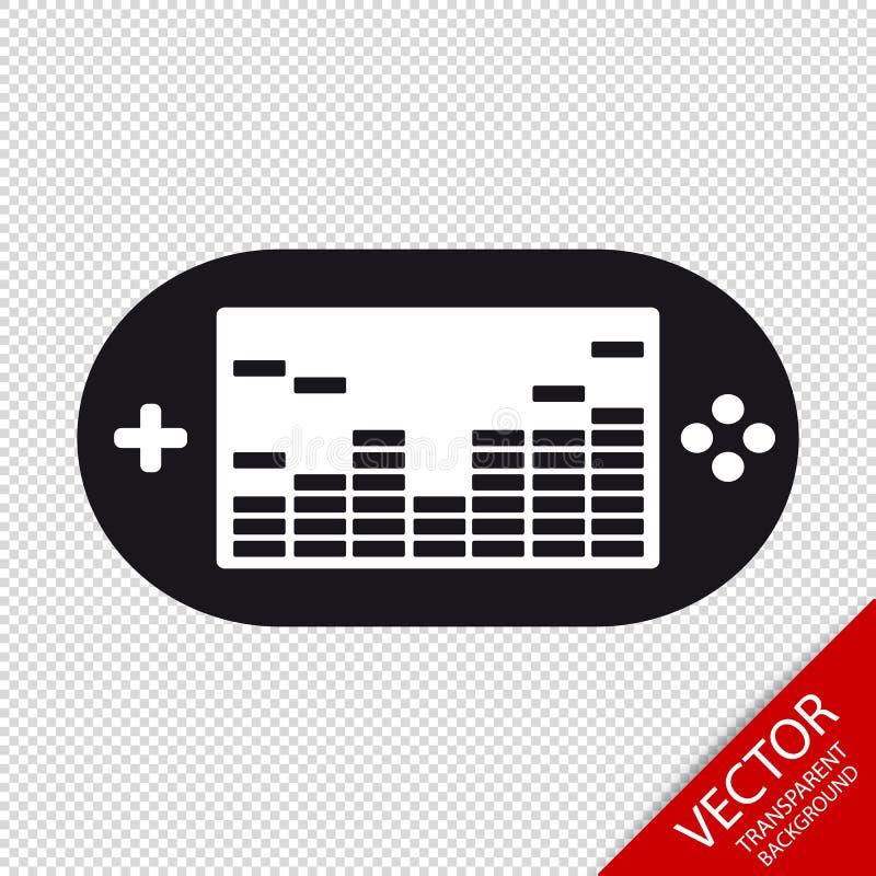 Spiel-Konsole - Vektor-Illustration - lokalisiert auf transparentem Hintergrund vektor abbildung