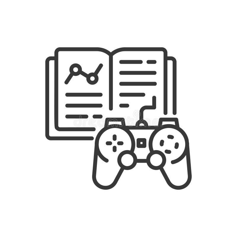 Spiel lernend - zeichnen Sie einzelne lokalisierte Ikone des Designs stock abbildung