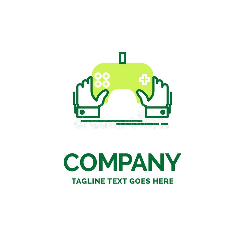 Spiel, Spiel, Mobile, Unterhaltung, App flacher Geschäfts-Logo Temp lizenzfreie abbildung
