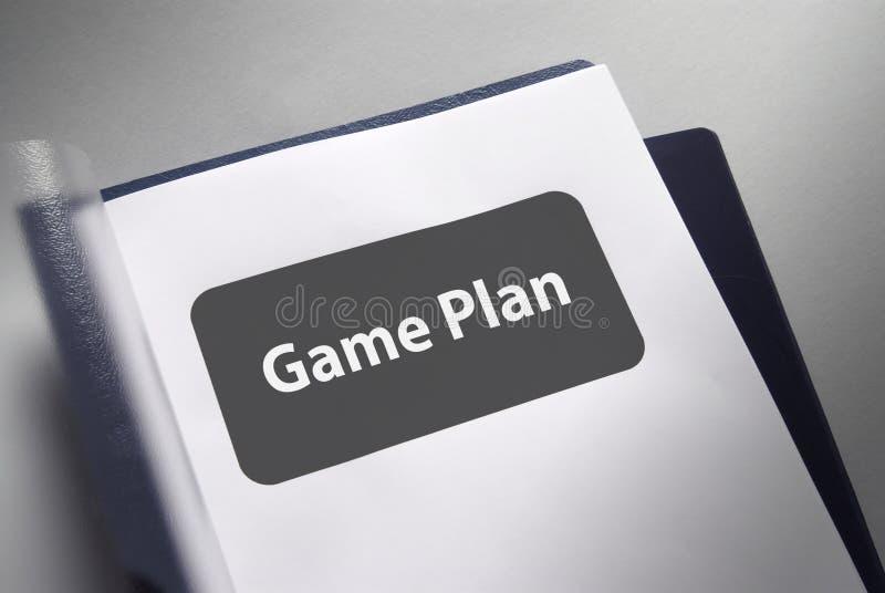 Spiel-Plandokument stockbild