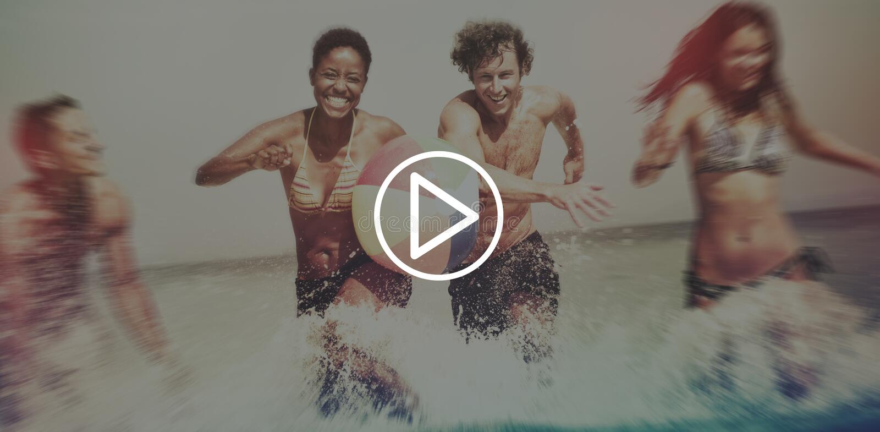 Spiel-Startknopf-Multimedia-Konzept lizenzfreie stockbilder