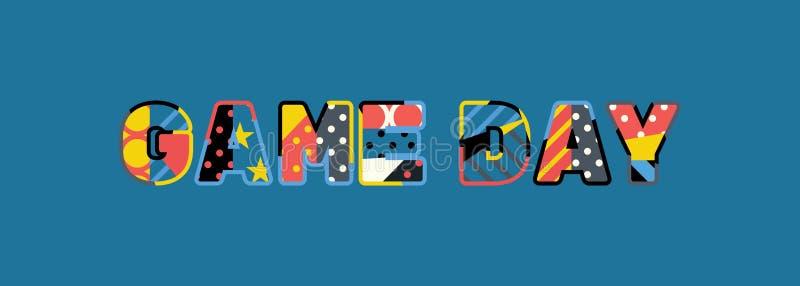 Spiel-Tageskonzept-Wort Art Illustration vektor abbildung