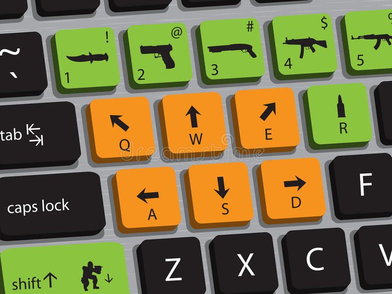 Spiel-Tastatur stock abbildung