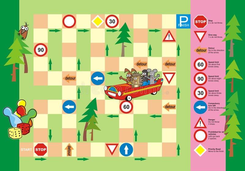 Spiel - Verkehrsschilder stock abbildung