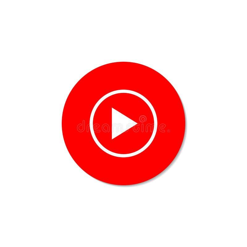Spiel-Video Rote Taste auf einem weißen Hintergrund vektor abbildung