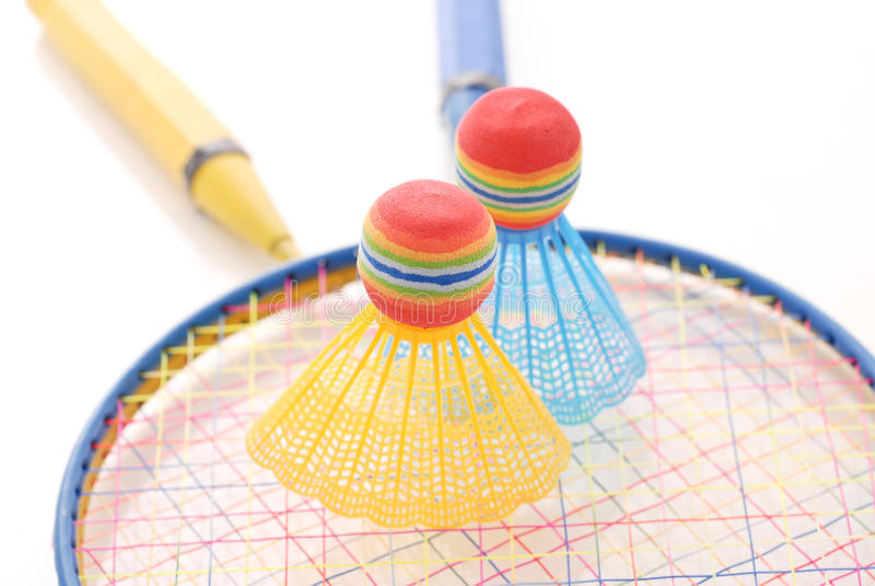 Spiel von Badminton stockfotografie