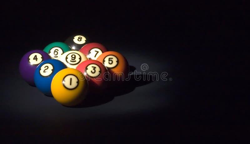 Spiel von Kugel 9 stockfoto