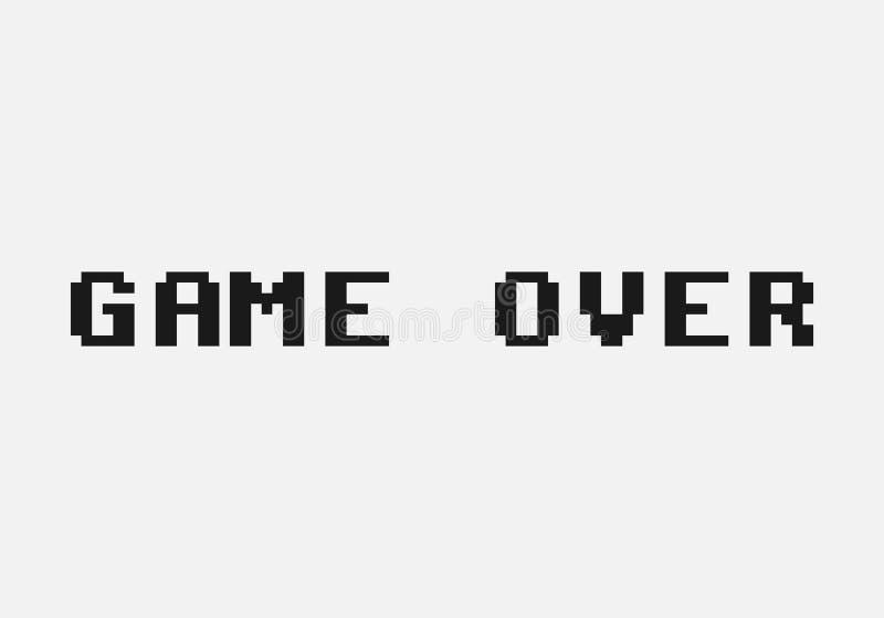 Spiel vorbei vektor abbildung