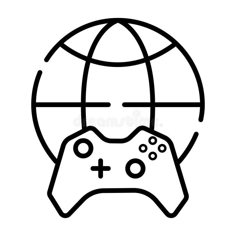 Spiel-Welt Logo Icon Design vektor abbildung