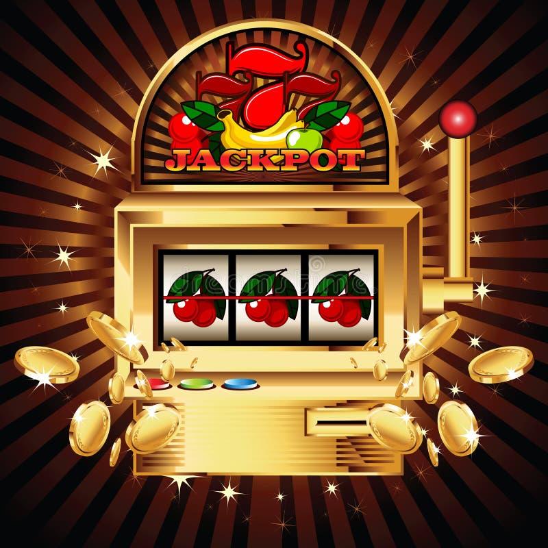 Spielautomat auf glänzendem Hintergrund vektor abbildung