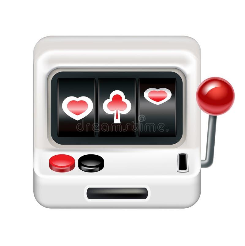 Spielautomat lokalisiert auf Weiß vektor abbildung