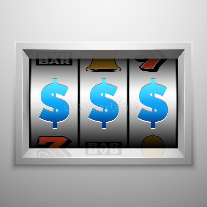 Spielautomat oder eine bewaffnete Banditanzeigetafel Kasino und spielendes Vektorkonzept vektor abbildung