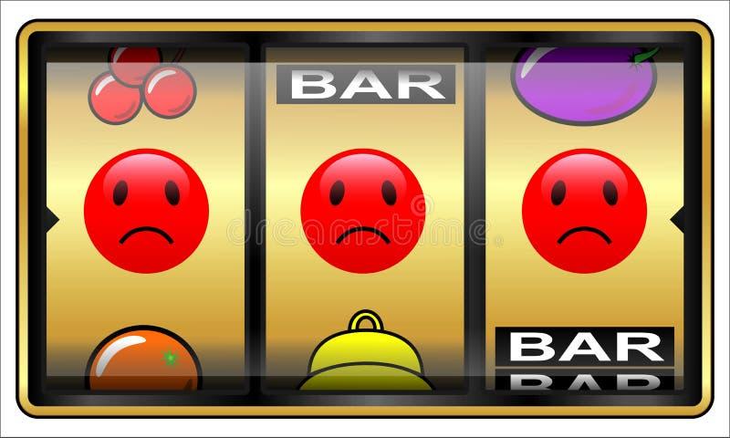 Spielautomat, spielend, Verlierer vektor abbildung