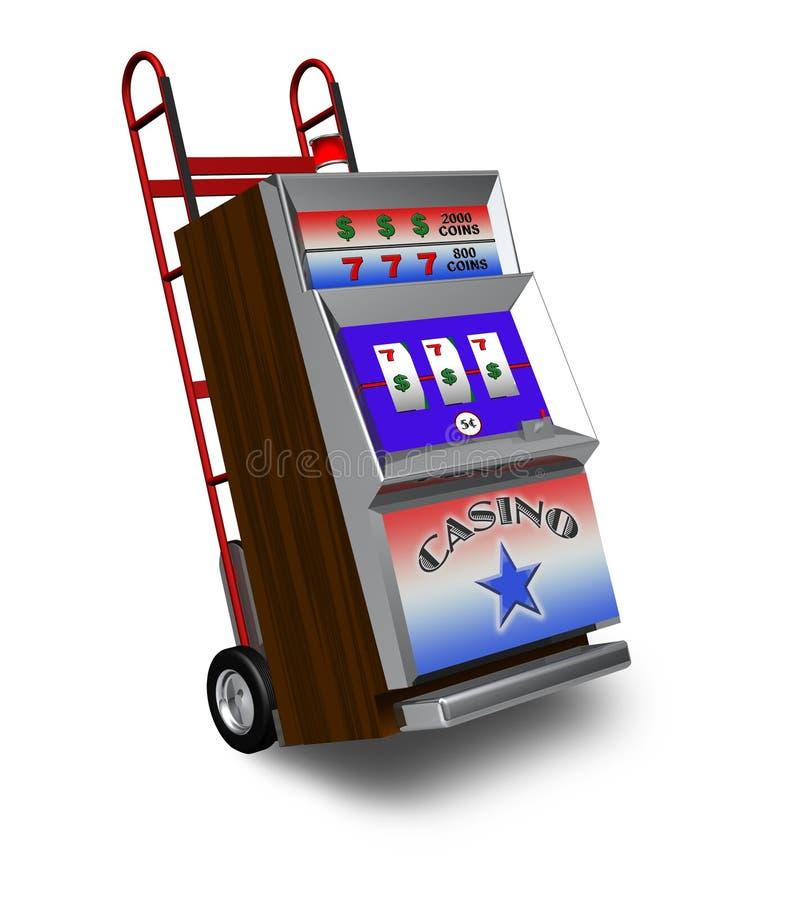 Spielautomatanlieferung Stockfotografie