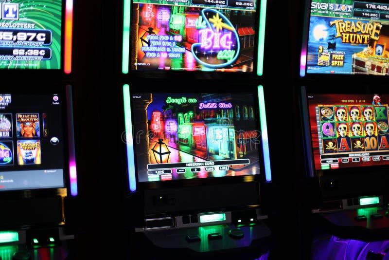 Spielautomaten videopoker stockbild