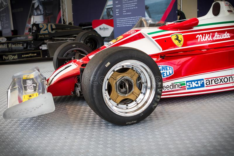 Spielberg, Autriche, 2014 bolid légendaire de voiture de Formule 1 d'†«, Nikis Lauda Ferrari rouge historique à partir de 1977 photos libres de droits