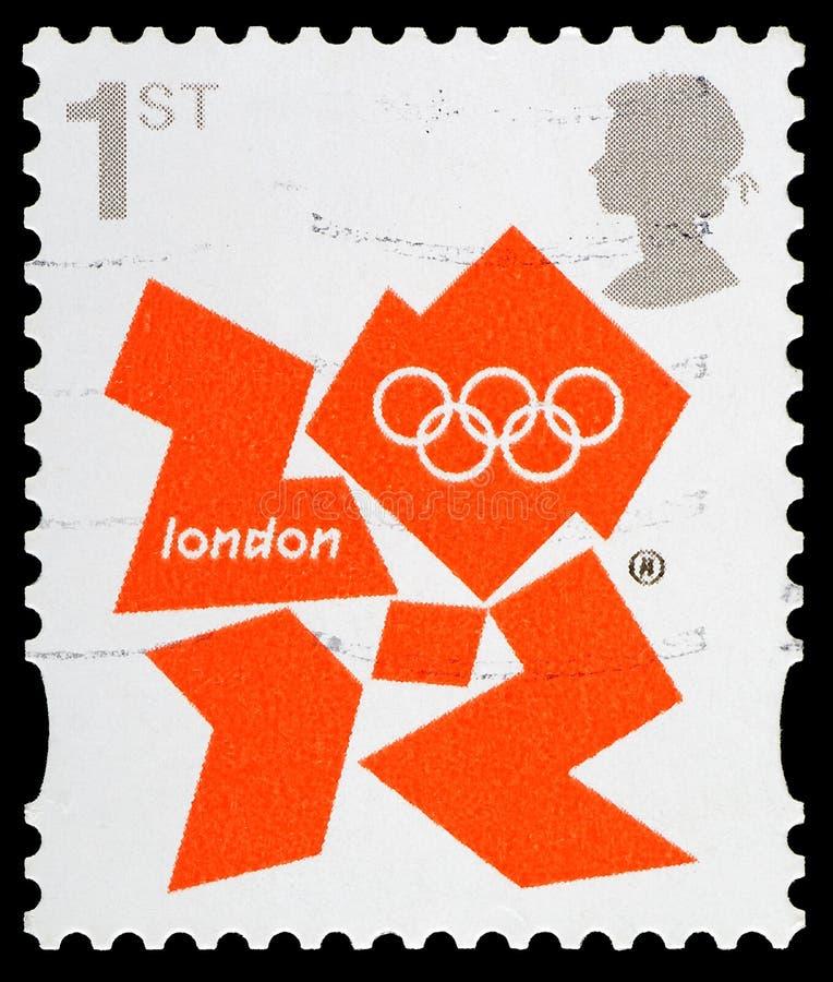 Spiele-Briefmarke London-2012 stockbilder