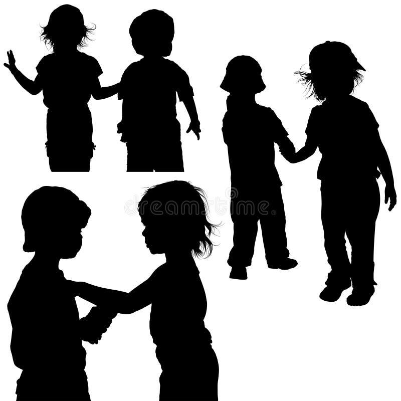 Spiele der Kinder lizenzfreie abbildung