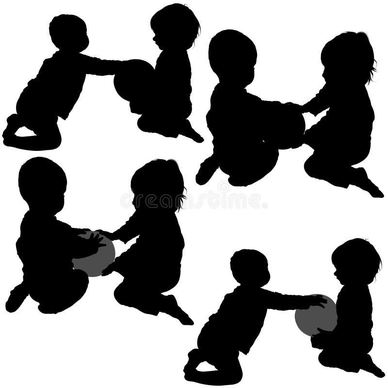 Spiele der Kinder stock abbildung