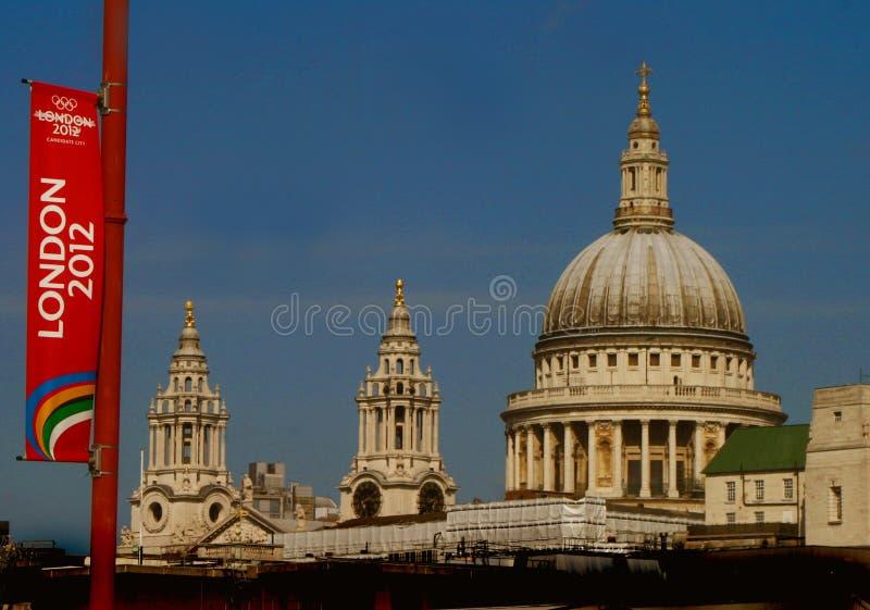 Spiele-Markierungsfahne London-2012 lizenzfreie stockfotos